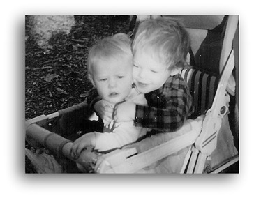 Winter and Grant in the Stroller