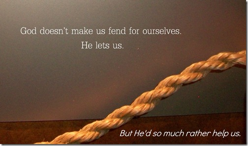 God Doesn't Make Us Fend for Ourselves @SuzBroadhurst