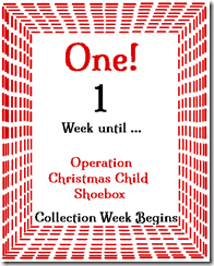 1 Week 'til Shoebox Time!