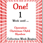 1 Week 'Til Shoebox Time! @SuzBroadhurst