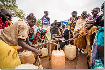 Samaritan's Purse has established nine water points throughout the Yida refugee camp, providing water to 20,000 people per day.