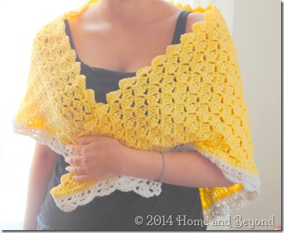 Bit Jazzier Yellow Shawl