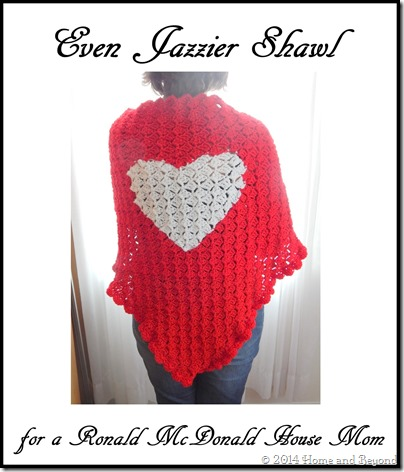 Even Jazzier Shawl for a RMH Mom with Border