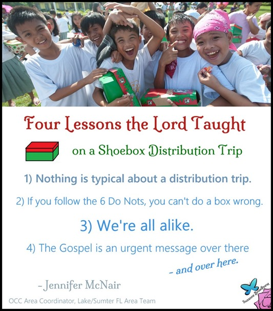 Four Lessons the Lord Taught
