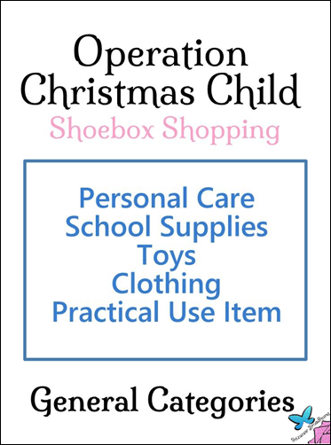 General Categories for OCC Gifts