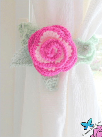 Curtain Tie Rose in Bloom