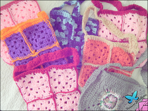 From Kim's Mom_Colorful Variations on Granny Square Purse