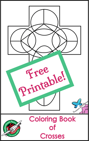Free Coloring Book of Crosses