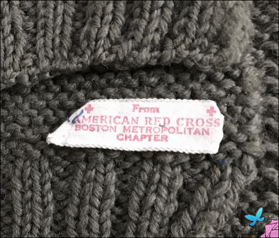 American Red Cross Scarf Label