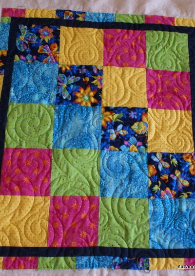 Firing up the quilting machine and embarassing the dog