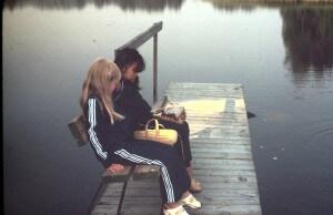 Jag och min kusin på bryggan