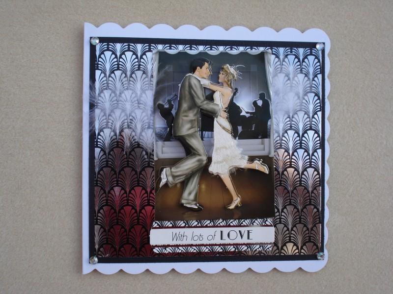Art Deco Dancing Birthday Card Suzee Krafts Handmade