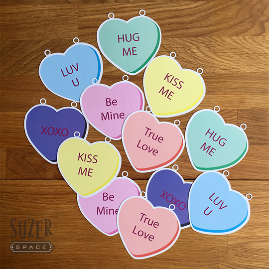Silhouette Studio's Print and Cut feature lets you create cute heart garlands