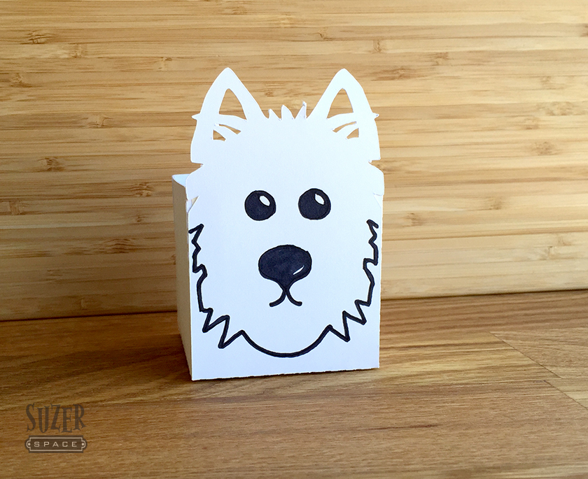Westie Face Paper Cutout Box