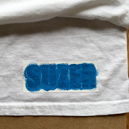 Painted T-shirt stencil