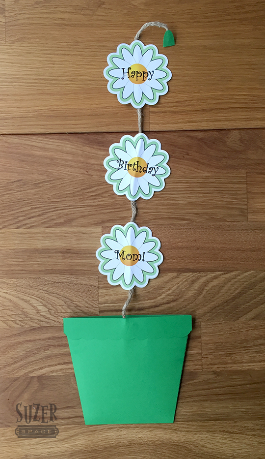 Daisy Flower Pot Birthday Card