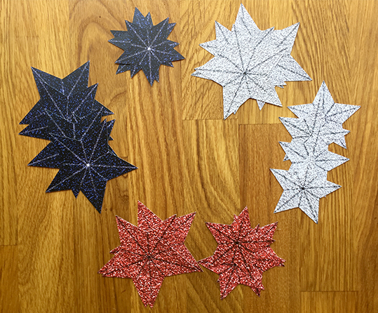stars for a glitter star wreath