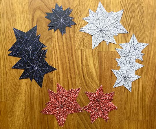 stars for a glitter star wreath