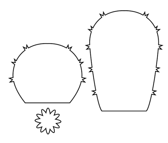 cactus drawing for a paper cactus