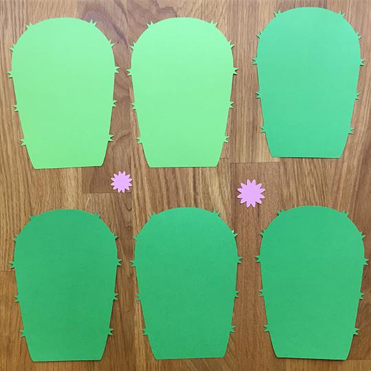 paper parts for a paper cactus