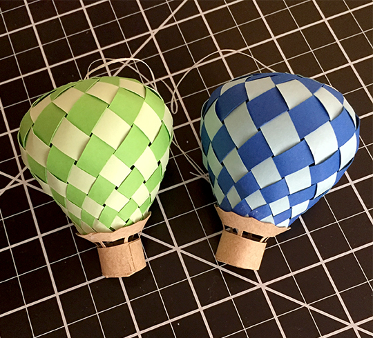 Hot air balloon garland assembled balloons | suzerspace