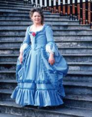 Blue 1760 dress at Osterley