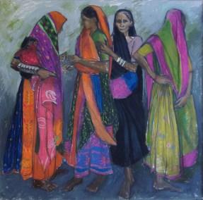 Four women Girnar Hill