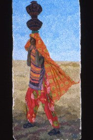 Profile of woman carrying water, Ludia