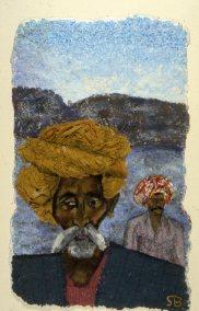 Two men at Pushkar Lake