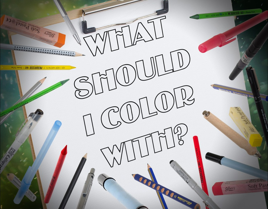 best coloring tools for getting started with adult coloring