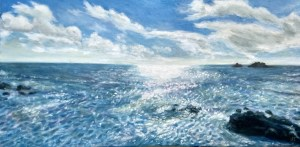 Sparkling Sea - painting by Cornish artist, Suzi Stephens