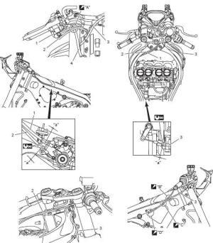 Suzuki GSXR 1000 Service Manual: Throttle cable routing