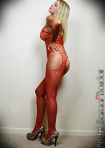 South Florida Escort | Miami-Fort Lauderdale | Sexy Blonde GFE - Upscale Private Incale - Red Fishnet, Mature, Pornstar