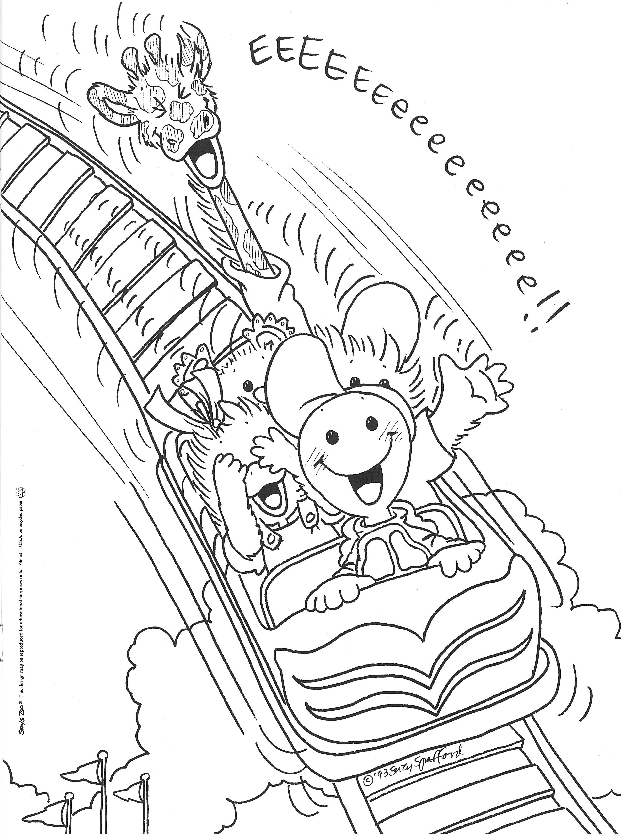 coaster coloring pages suzy s zoo official site suzy s zoo fun stuff
