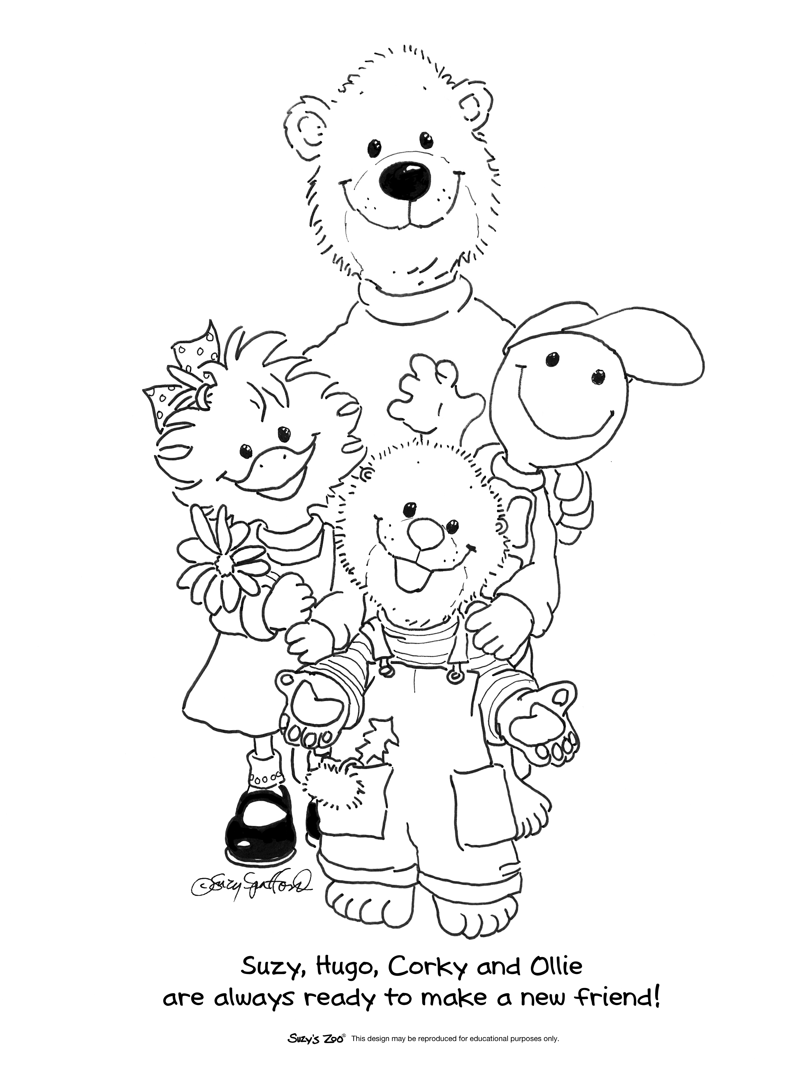 suzyzoo colouring pages page 2
