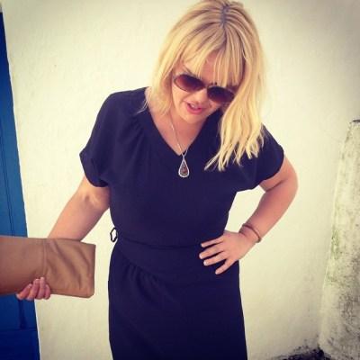 liz vintage black dress