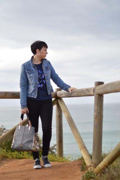 Blue top, blue jeans10