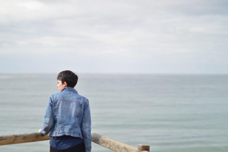 Blue top, blue jeans9