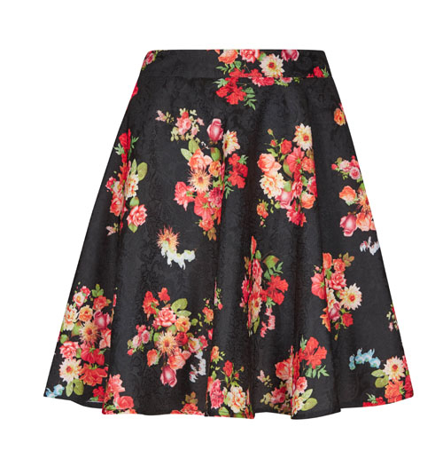 Apricot floral skirt