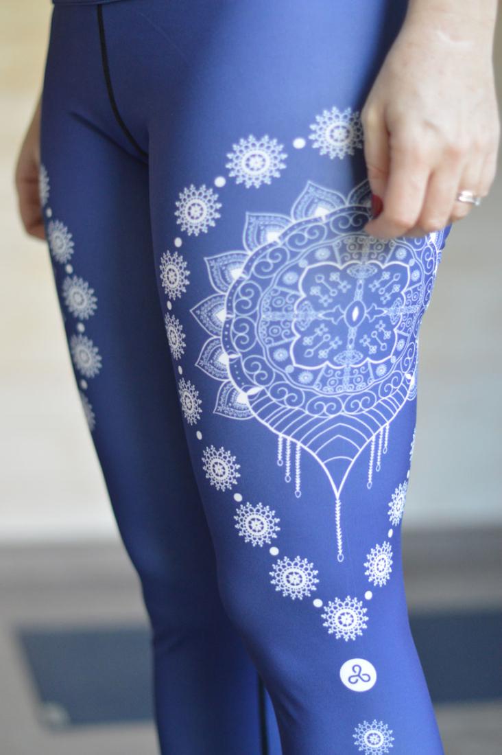 Gorgeous blue mandala yoga leggings from Accessory Insanity