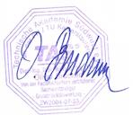 Unterschrift mit Stempel