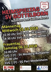 Heimspiele im Oktober - Fußballverein im Saarland