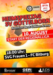 Heimspiel 10. August - Fußballverein im Saarland