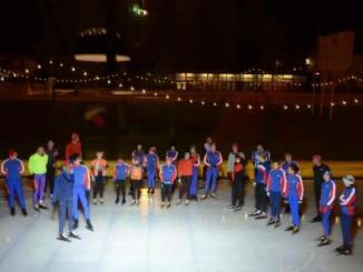De deelnemersaan de start