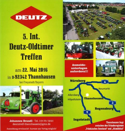 Flyer - 5. Int. Deutz-Oldtimer Treffen Thannhausen