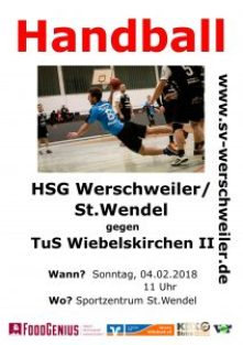 HSG Werschweiler/St.Wendel gegen TuS Wiebelskirchen 2