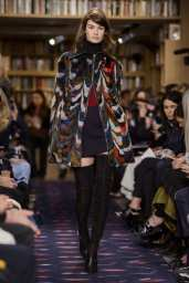 sonia rykiel patterned fur coat