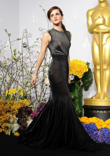 In Vera Wang at the Oscars