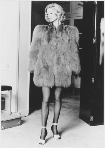 YSL fox fur coat