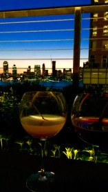 Our cocktails as we watch the sunset over our beautiful NYC skyline